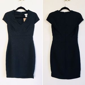 Embossed Lace Fabric LBD Cocktail Dress Sz M NWT